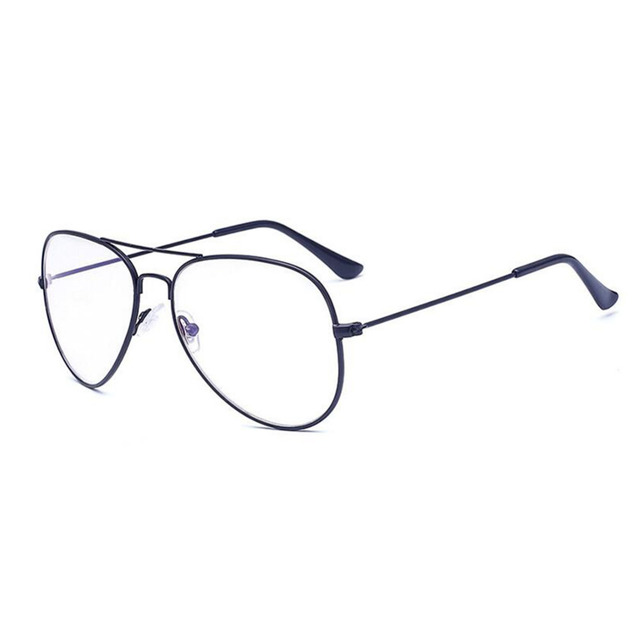 Jelas kacamata Klasik pria wanita Logam Bingkai Kacamata Bingkai Batal Lens  Kacamata Resep kacamata bingkai Myopi 6fd03df9bd