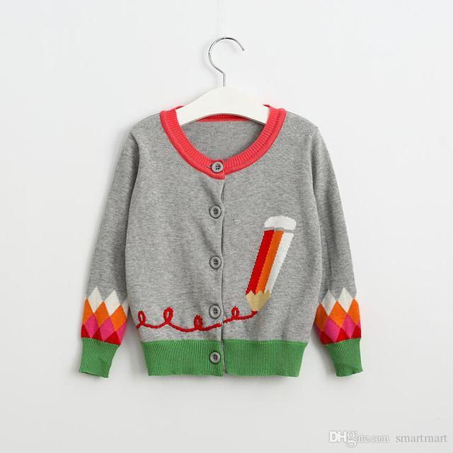 New Kids Девушки Трикотажные Pencel Вязаный Кардиган Свитер Куртки Западной Моде Сладкие Дети Осень Зима Outwears