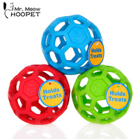 Cheap Drain Food Ball Dog Toy Natural Non Toxic Rubber Teddy Golden Dog Geometric Toy Ball