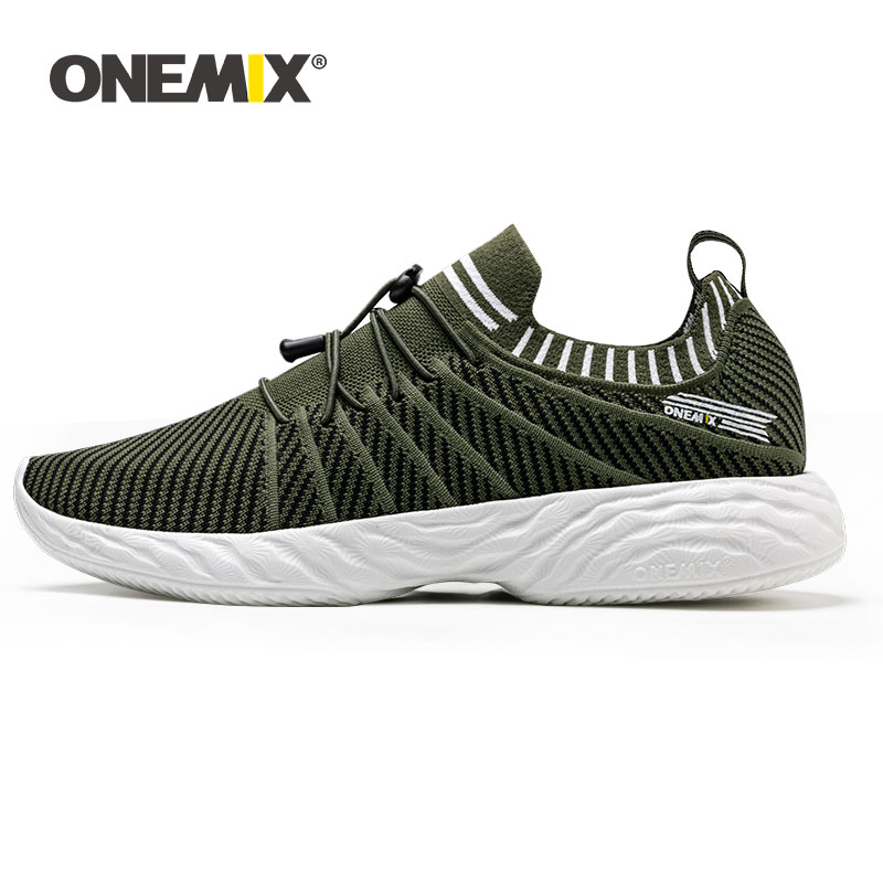 ONEMIX Men Running Shoes Trainers Comfortable Damping Outdoor Athletic Vulcanized Tennis Shoes Trail Sneakers 350 Free Shipping