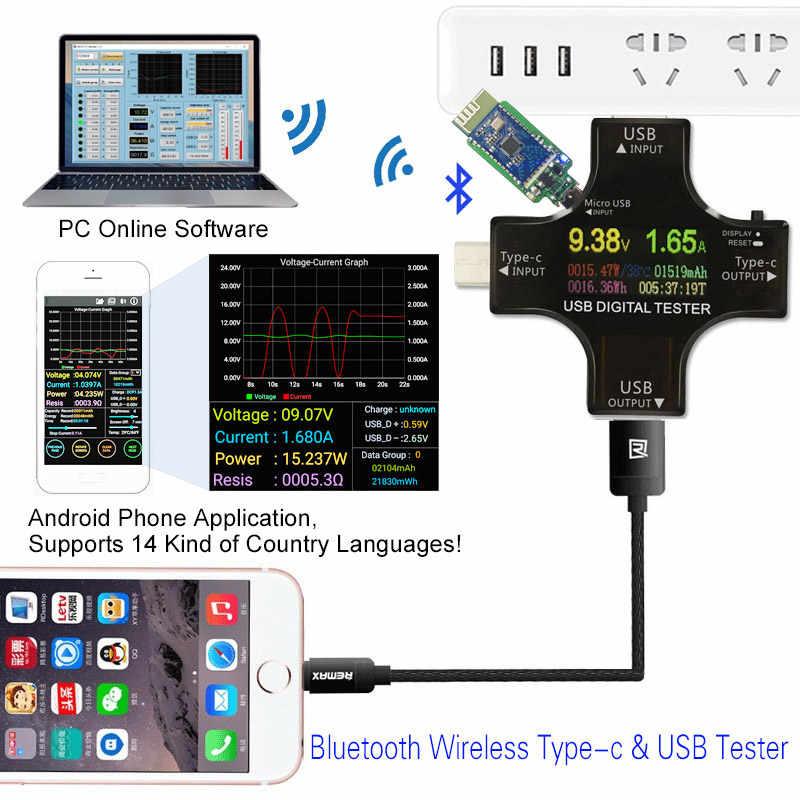PD USB Color tester 12 in 1 DC Digital voltmeter current
