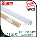 4PCS/lot 0.9M led t8 tube 14W SMD2835 energy saving free shipping