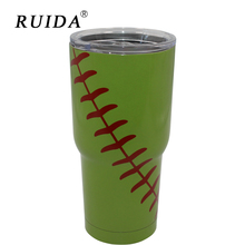 RUIDA 30oz Baseball Stainless Steel Thermos Coffee Travel Mug Thermal Bottle for Water Vacuum Flasks Termos Cup  ST011
