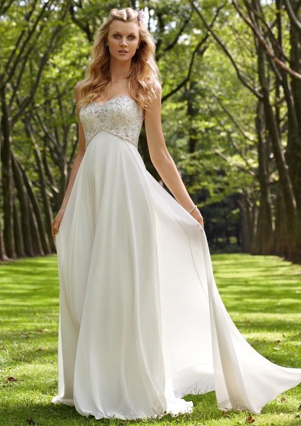 matrimonio playa de la gasa de maternidad vestidos de novia nueva