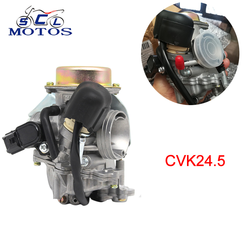 Sclmotos-carburateur moto CVK24 24.5mm Carb Scooter starter électronique ATV UTV Quads Buggy GY6 100 125 150CC course de puissance