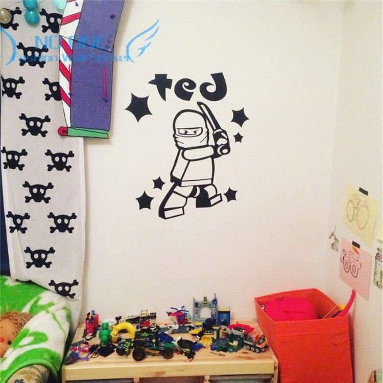 Astonishing Us 7 99 20 Off Lego Ninjago Personalised Name Wall Art Sticker For Kids Boy Room Decor Childrens Play Room Wall Decor Wall Stickers In Wall Download Free Architecture Designs Scobabritishbridgeorg
