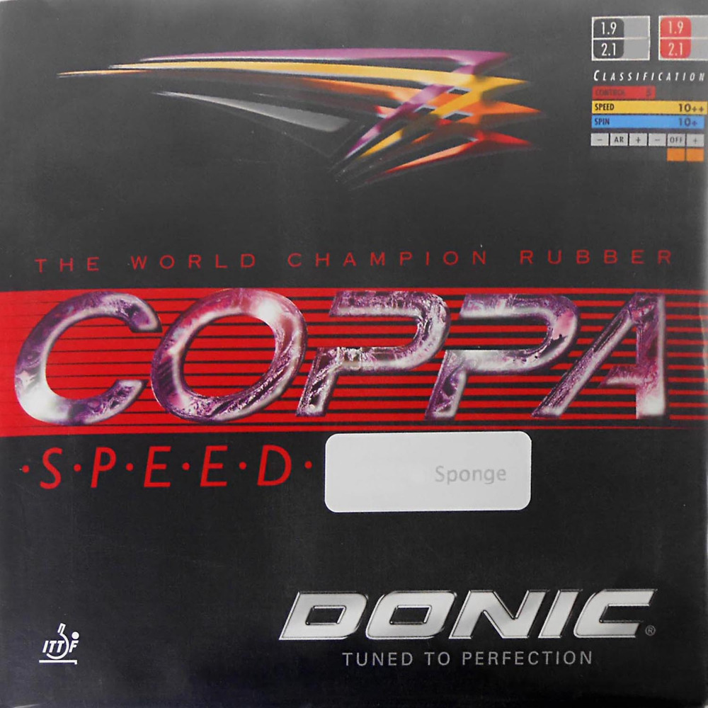 Donic COPPA Speed 12071# Black Pips-In Table Tennis PingPong Rubber with Sponge donic acuda s1 s 1 s 1 12090 turbo pips in table tennis pingpong rubber with sponge