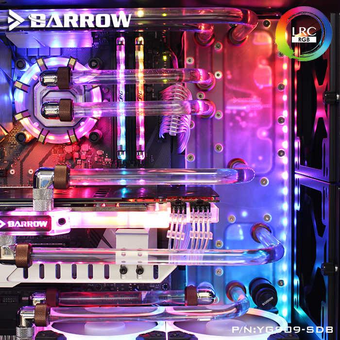 Barrow YG909-SDB, Corso D'acqua Schede Per INWIN 909 Caso, per Intel CPU Water Block e Singola/Doppia GPU/Pompe di Costruzione