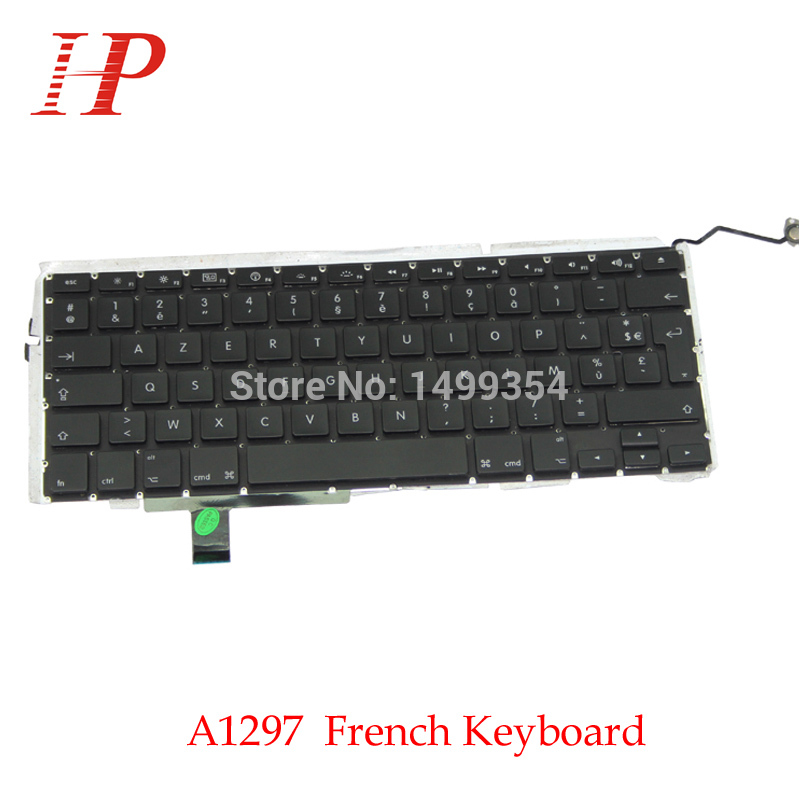 5PCS Genuine A1297 French FR Keyboard With Backlight For Apple Macbook Pro 17'' A1297 Keyboard French Version 2009-2012 brand new azerty fr french keyboard backlight backlit 100pcs keyboard screws for macbook pro 15 4 a1286 2009 2012 years