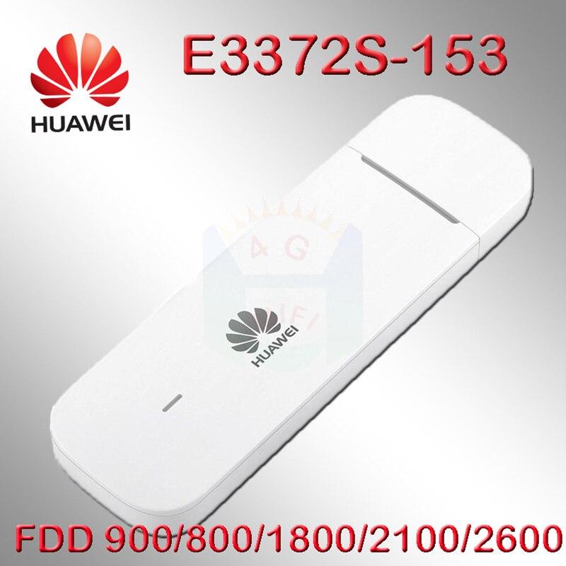 Débloqué E3372s-153 huawei E3372 4G LTE USB Dongle clé USB carte de données avec fente pour carte SIM 4g dongle android huawei modem e3372