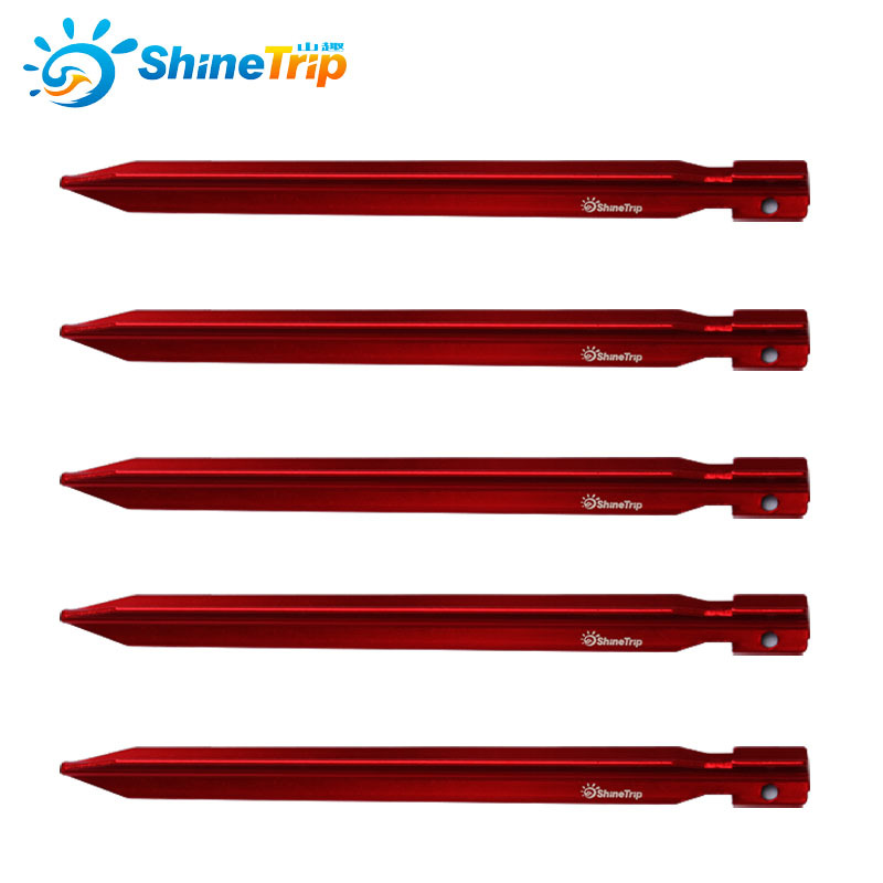 2018 New Arrival Lightweight Aluminum Camping Tent Nails Pegs For Tarp Shelter Canopy Peg Nail Outdoor Accessories