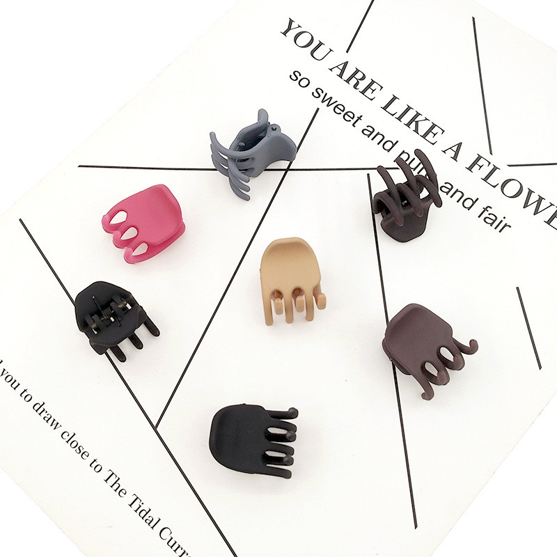 Ganchos Para Cabello Mujer  Korea Acrylic Solid Color Simple Temperament Hairpins For Women Simple In The Small Grab  Clip