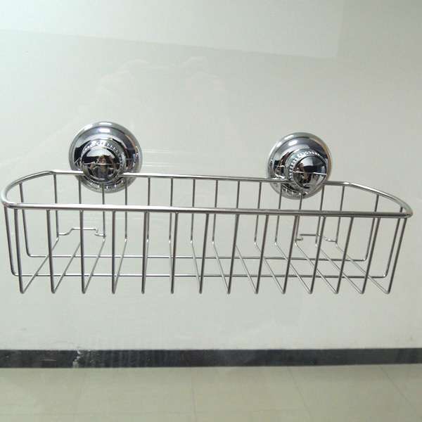 Tool Free Bathroom Caddy Suction Shower Basket Stainless Steel ...