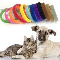 12 Mini Pet Dogs Kitten Reusable Adjustable Washable Collars Velcro Distinguish ID 350mm 12 Colours