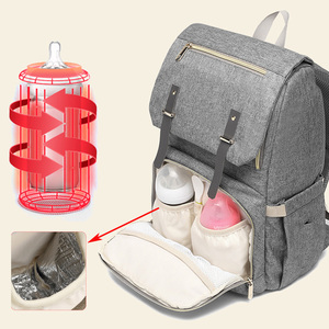 Image 2 - USB Rechargeable Independent Insulation Backpack Diaper Bag Waterproof Travel Bags Baby Stroller Nappy Bag Daddy Large Capacity