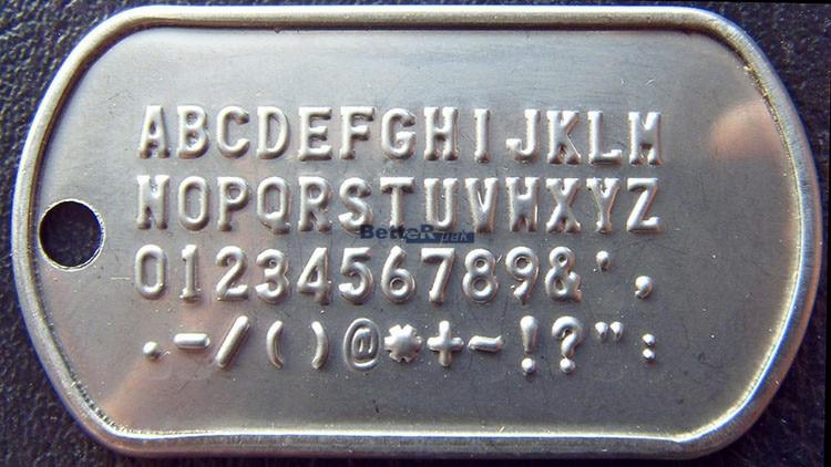 Etiqueta de identidad del ejército militar, placa de acero - Accesorios para herramientas eléctricas - foto 4