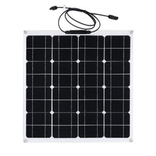Outdoor Solar Charging Device Flexible Monocrystalline Solar Panel Module 50W 12V For Camping Garden Camping Power Supply