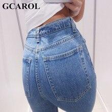 GCAROL 2017 Women High Waist Denim Jeans Vintage Slim Mom Style Pencil Jeans High Quality Denim Pants For 4 Season