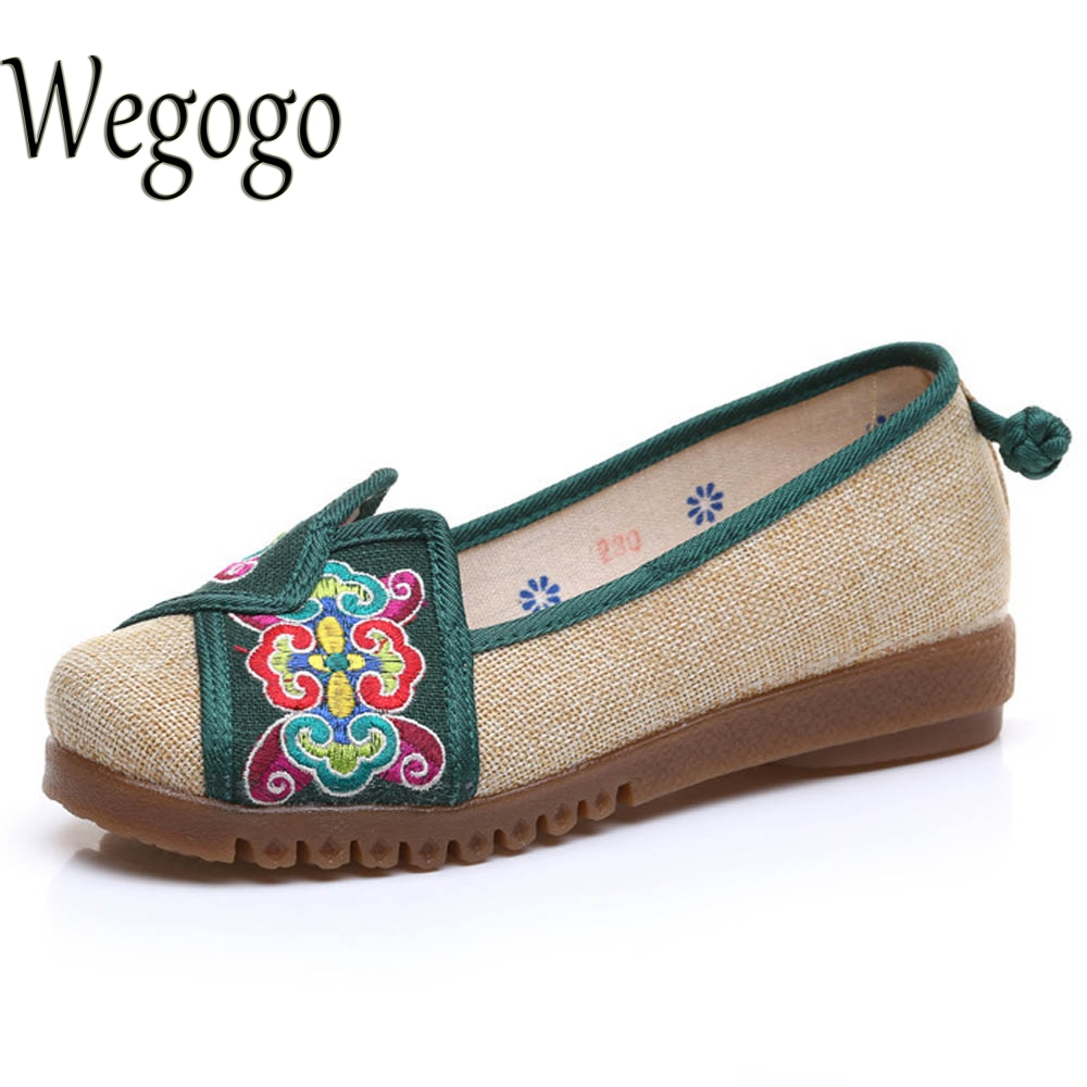 Women Vintage Shoes Chinese Old Beijing women hemp embroidered linen Canvas Flats Single Shoes size 34-41 autumn new women flats vintage chinese old beijing shoes tourism embroidered floral single soft lace up shoes woman
