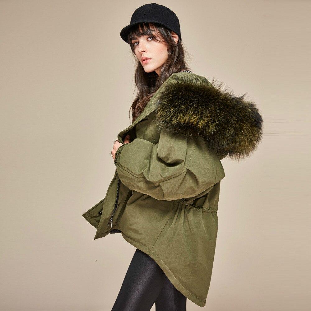 90% White Duck   Down     Coat   2018 Women Winter Duck   Down     Coat   Parkas Long Thick Parka 100% Natural Raccoon Fur Collar Hood   Coat