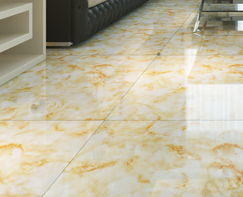The Royal Symphony Ceramic Tiles 800800 Gold Microlite Glazed Tile