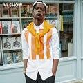 VIISHOW Мужчины Рубашки Повседневные Slim Fit С Длинным Рукавом Рубашка мужской дизайнер Полосатый Camisa Марка Мужской Социальной Рубашка Одежда XXL