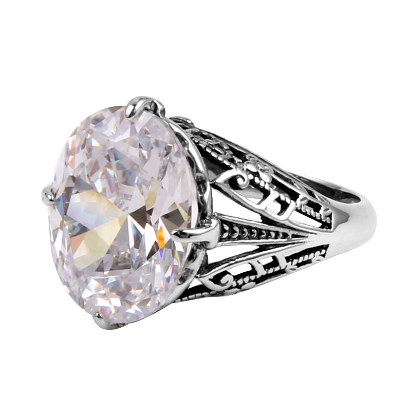 Szjinao fashion silver ring body jewelry replica created zirconia women 925 sterling silver ring wholesale charm