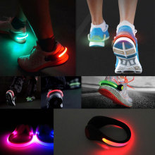 Bicycle Bike Light 2Pcs Luces LED Cycling Shoes Clip Bike Lights Night Safety Warning LED Bright Flash Light For Running Sports