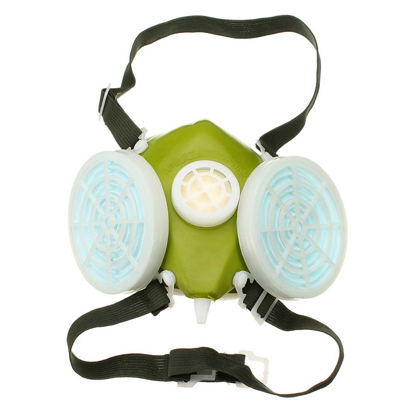 NEW Double Cartridges Respirator Mask Industrial Gas Chemical Anti-Dust Spray Paint Respirator Face Masks Filter Glasses Goggles safurance industrial safety full face gas mask chemical breathing mask paint dust respirator workplace safety