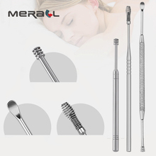 7pcs Fashionable Stainless Steel Dug Earpick Wax Remover Artifact Scoop Buckle Curettes Ears Silver Clean Organ Health Care Tool
