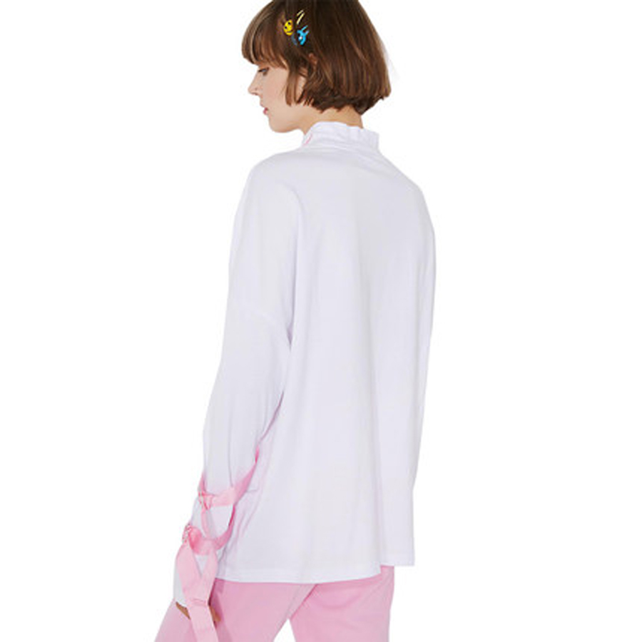 Loose Long Sleeve Women Sweatshirt Winter Pink Lace Up Pullover Sailor Moon  Felpe Donna Tumblr Turtleneck Women Jumper 66-in Hoodies   Sweatshirts from  ... b3a4a5309