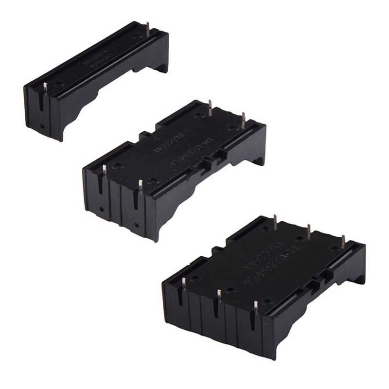 ALLOYSEED ABS 18650 Battery Holder Hard Pin 1X 2X 3X 18650 Holder Batteries 18650 Case Box Rechargeable Battery Power Bank Case