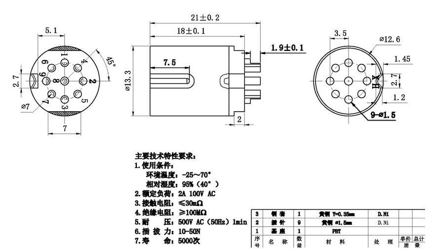 din socket 9 pin male inline din 9 07f stb plug socket