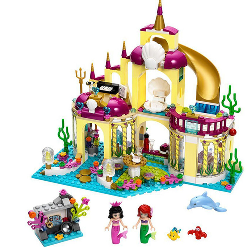 Diy Compatible With playmobil Girls Friends Series The Undersea Palace Set Castle Building Blocks Bricks Toys For Children gifts 808pcs diy new girls series the friendship house set building blocks bricks friends toys for children compatible legoingly 41340