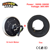 10Inch 36V48V350W 1000WMotor Vacuum Tire Conversion kit Electric Scooter Motor Parts Modified DIY Wheel Brushless Motor