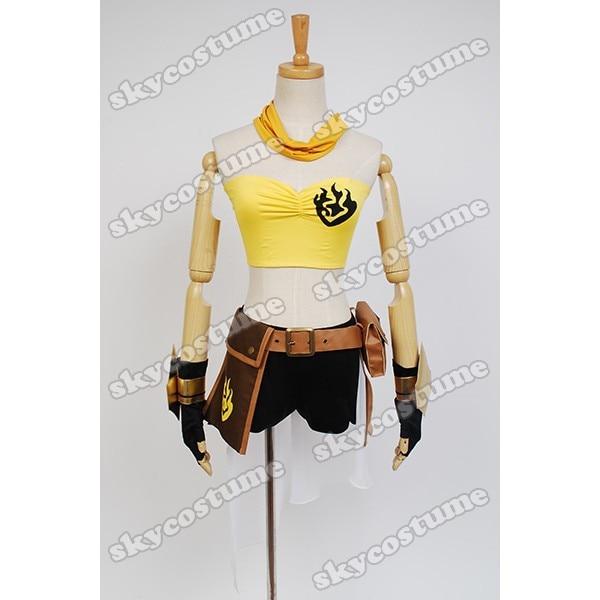 RWBY Geel Trailer Yang Xiao Lange Jurk Handschoenen Anime Meisjes - Carnavalskostuums - Foto 4
