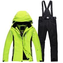Новые лыжные костюмы для мужчин и женщин на открытом воздухе сноуборд лыжная куртка брюки мужские женские походные куртки Пары/Любители зимняя одежда комплект