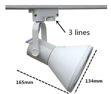 shopping mall/ clothing store lighting lamp white housing color 3 lines without light bulb