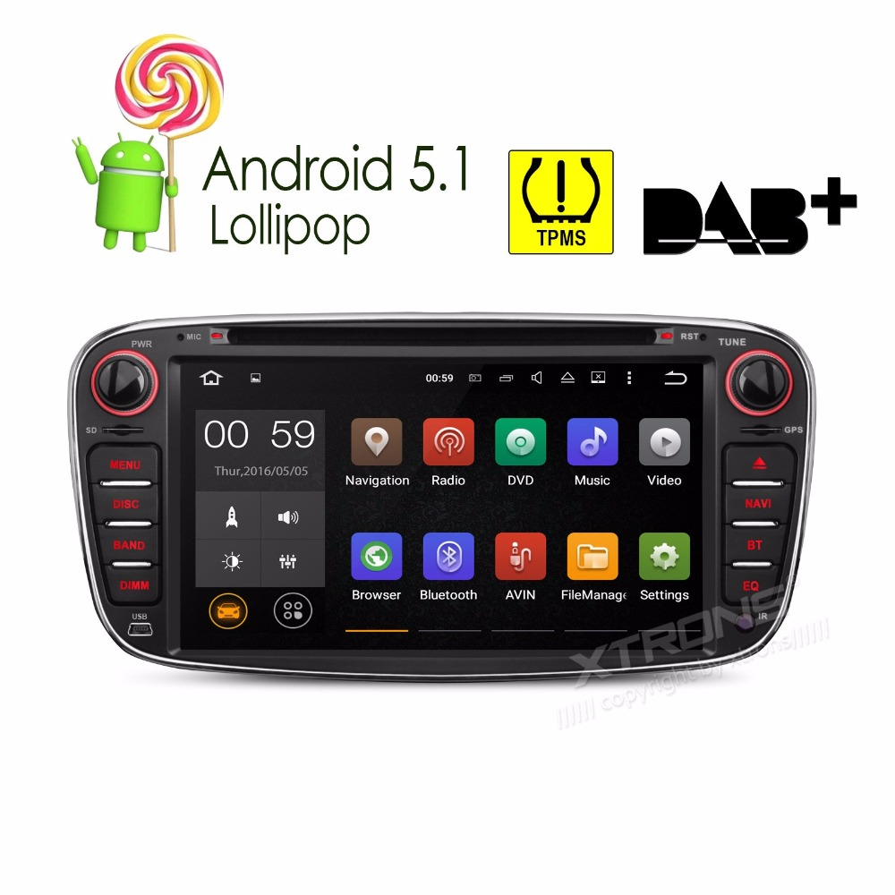 7 Android 5.1 OS Special Car DVD Player radio for Ford Focus 2007-2010 & S-Max 2008-2011 & Mondeo 2004-2011 & Galaxy 2010-2011