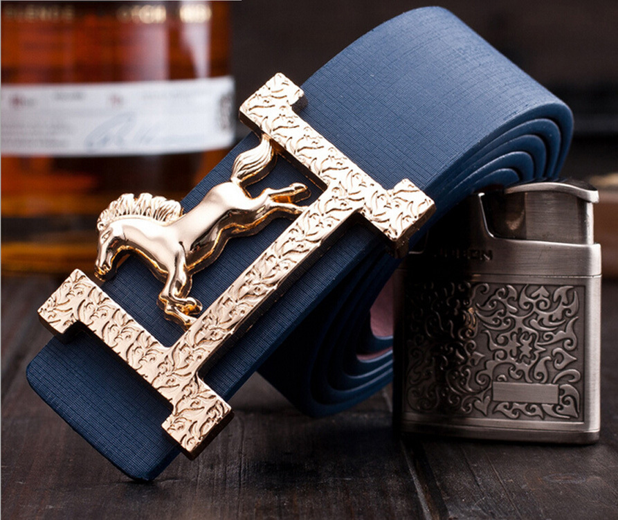 2019 Fashion Smooth Buckle   Belts   with Letter H Wo'men   Belts   Cinturones Hombre Golden Horse Leisure   Belt   Free Shipping luxury