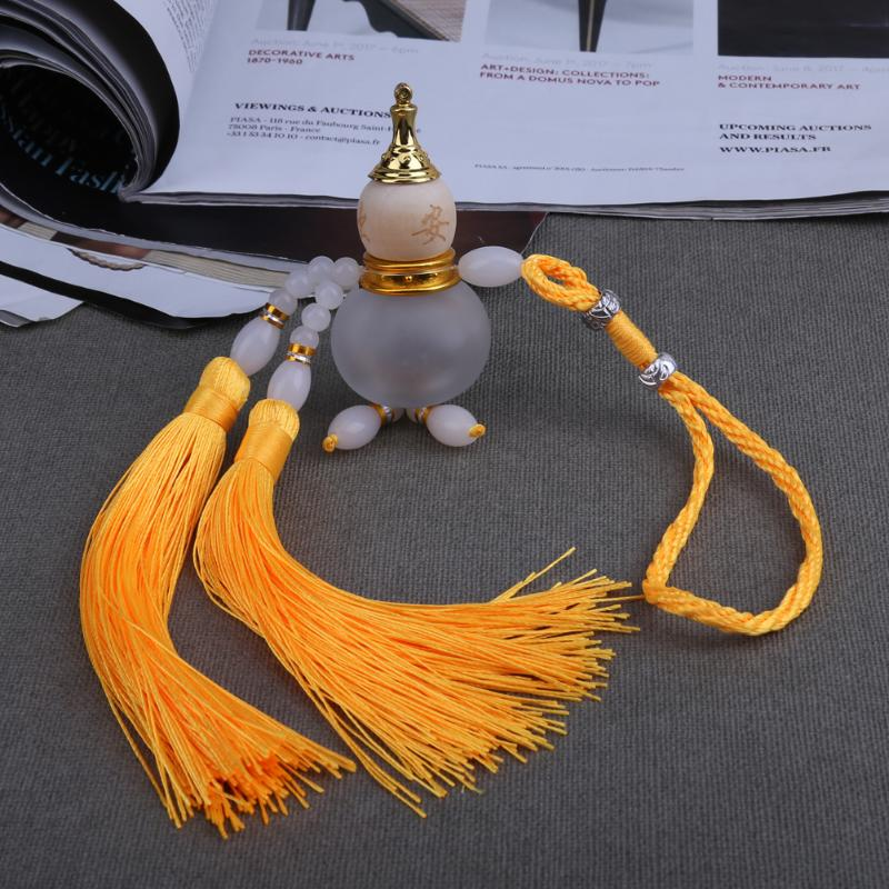 Yellow Colors Chinese Gourd Perfume Bottle, for Car Accessories Interior Ornaments