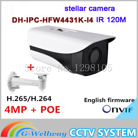 все цены на Dahua Original English firmware stellar camera 4MP Dahua-IPC-HFW4431K-I4 Network IP IR Bullet H265 H264 slot IPC-HFW4431K-I4 онлайн