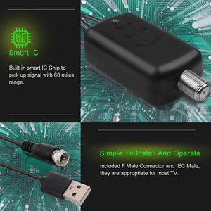 Image 2 - Kebidumei USB 전원 공급 장치가있는 안테나 증폭기 F 포트 TV 포트 1080P TV 신호 부스터 HDTV 박스 케이블 부스터 안테나 부스터