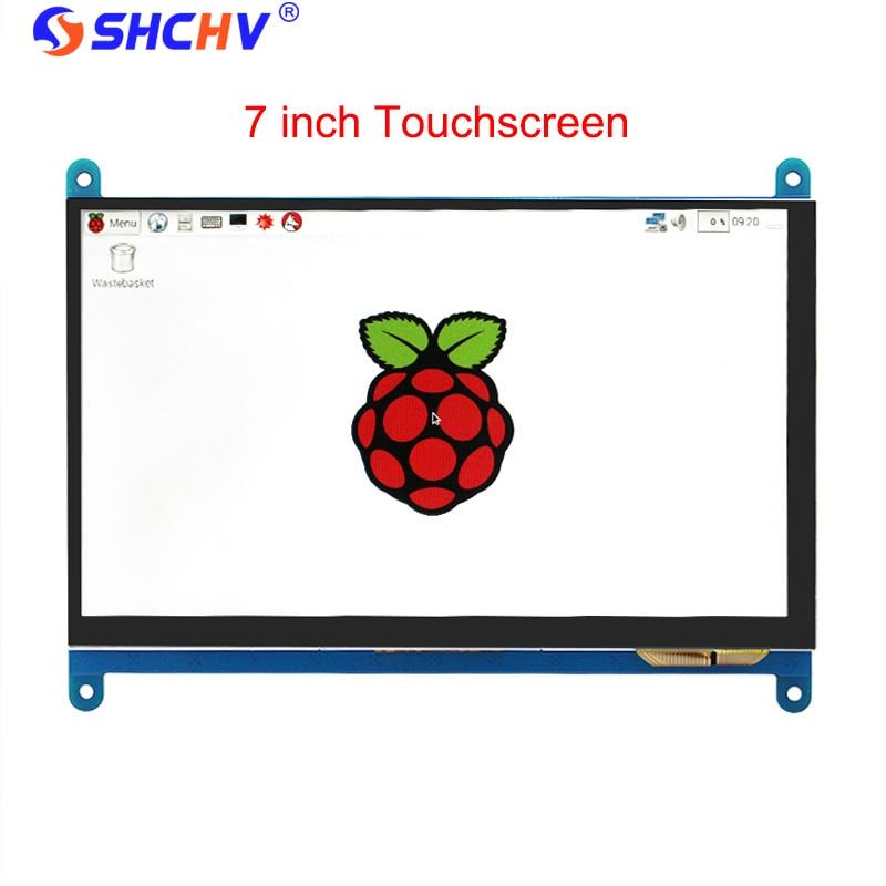 7 pouce Framboise Pi 3 Modèle B + LCD Affichage à L'écran Tactile LCD 1024*600 800*480 HDMI TFT Moniteur + Titulaire Cas pour Raspberry Pi 3 - 6