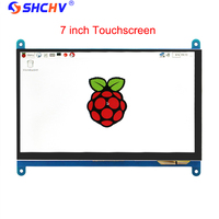 7 inch Raspberry Pi 3 LCD Display Touch Screen LCD 1024*600 800*480 HDMI TFT Monitor + Case Compatible RPI 2/B+ Free Shipping