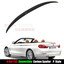 f33 spoiler for BMW 4 Series F33 Convertible Carbon Fiber Rear Trunk Spoiler Performance 2014 2015 2016