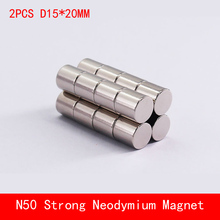 2PCS D15*20mm N50 powerful magnetic force neodymium magnets strong round magnet diameter 15X20MM