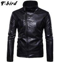 T Bird 2018 Hoodie Men Cardigan Genuine Leather Hip Hop Sweatshirt Men S Hoodies Winter Fashion