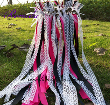 New Arrived  ribbon wands with sliver bells