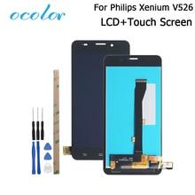 Ocolor สำหรับ Philips Xenium V526 จอแสดงผล LCD และ Touch Screen Digitizer การเปลี่ยนชุดเครื่องมือสำหรับ Philips Xenium V526